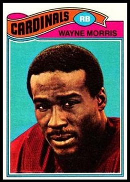 Wayne Morris 1977 Topps football card