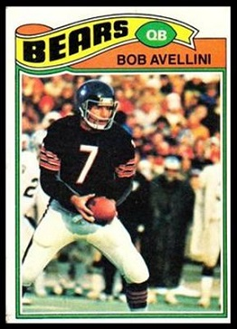 Bob Avellini 1977 Topps football card