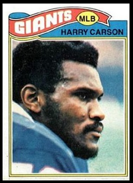 Harry Carson 1977 Topps football card