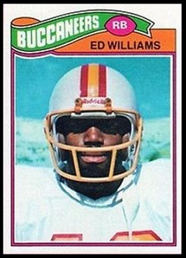 Ed Williams 1977 Topps football card