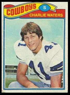Charlie Waters 1977 Topps football card