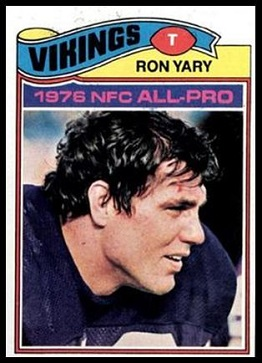 Ron Yary 1977 Topps football card
