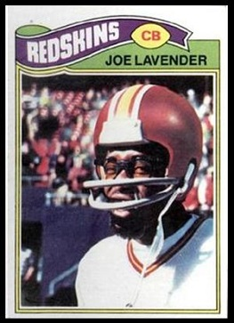 Joe Lavender 1977 Topps football card