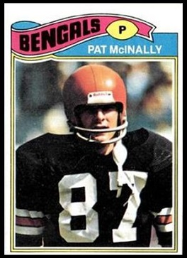 Pat McInally 1977 Topps football card