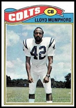 Lloyd Mumphord 1977 Topps football card