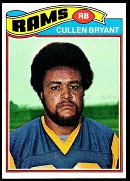Cullen Bryant 1977 Topps football card