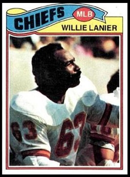 Willie Lanier 1977 Topps football card
