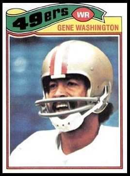 Gene Washington 1977 Topps football card
