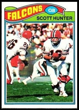 Scott Hunter 1977 Topps football card