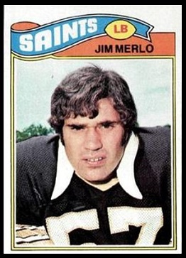 Jim Merlo 1977 Topps football card