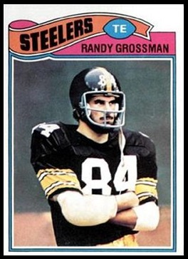 Randy Grossman 1977 Topps football card