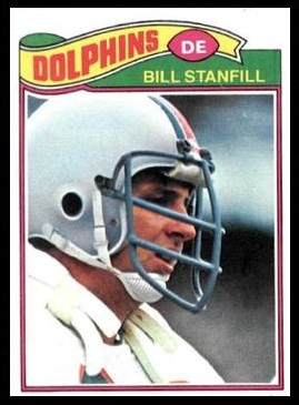 Bill Stanfill 1977 Topps football card