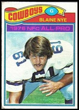 Blaine Nye 1977 Topps football card
