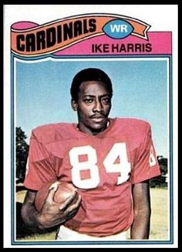Ike Harris 1977 Topps football card