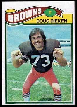 Doug Dieken 1977 Topps football card