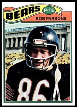 Bob Parsons 1977 Topps football card