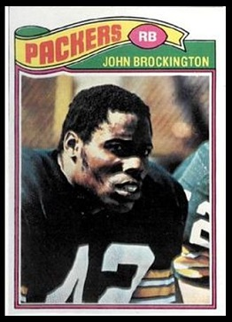 John Brockington 1977 Topps football card