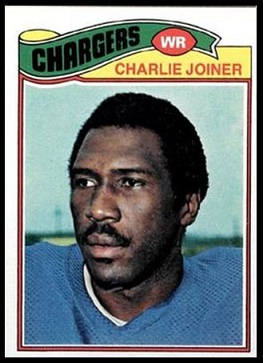 Charlie Joiner 1977 Topps football card