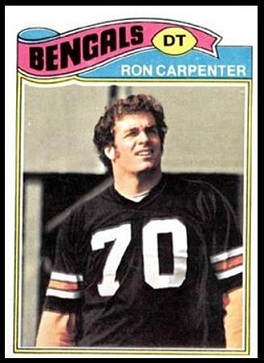 Ron Carpenter 1977 Topps football card