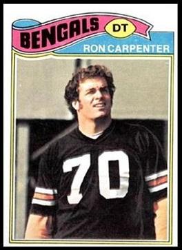 Ron Carpenter 1977 Topps football card