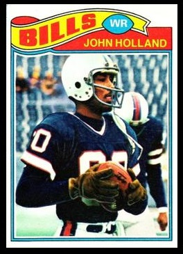 John Holland 1977 Topps football card