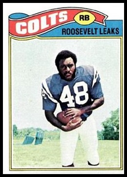 Roosevelt Leaks 1977 Topps football card