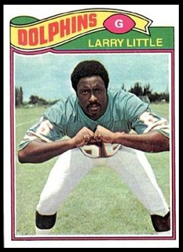 Larry Little 1977 Topps football card