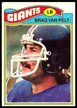 Brad Van Pelt 1977 Topps football card