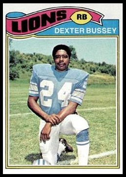 Dexter Bussey 1977 Topps football card