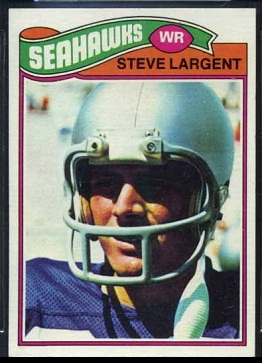 Steve Largent 1977 Topps football card