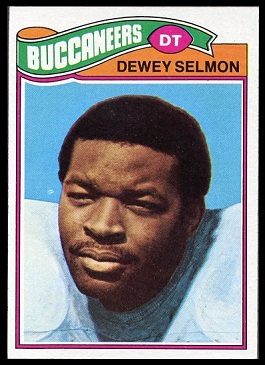 Dewey Selmon 1977 Topps football card