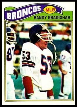 Randy Gradishar 1977 Topps football card