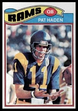 Pat Haden 1977 Topps football card