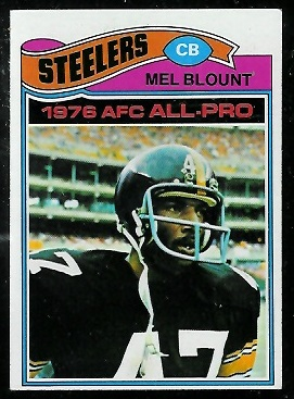 Mel Blount 1977 Topps football card