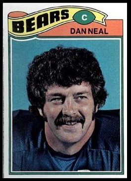Dan Neal 1977 Topps football card
