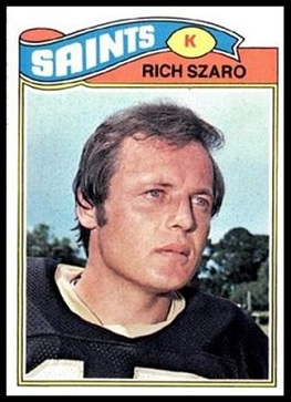 Rich Szaro 1977 Topps football card