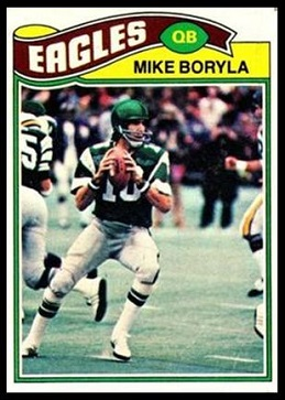 Mike Boryla 1977 Topps football card