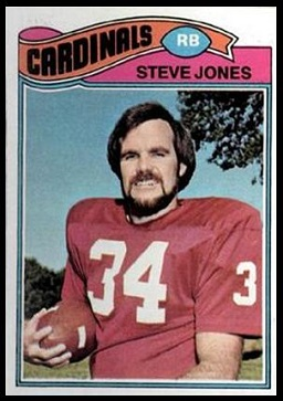 Steve Jones 1977 Topps football card