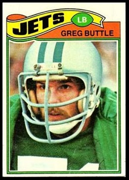 Greg Buttle 1977 Topps football card