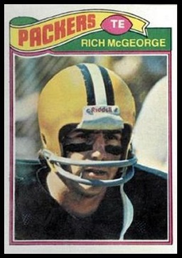 Rich McGeorge 1977 Topps football card