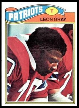 Leon Gray 1977 Topps football card