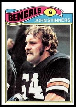 John Shinners 1977 Topps football card