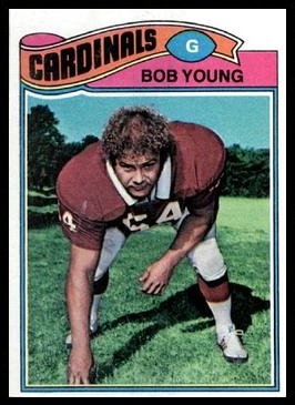 Bob Young 1977 Topps football card