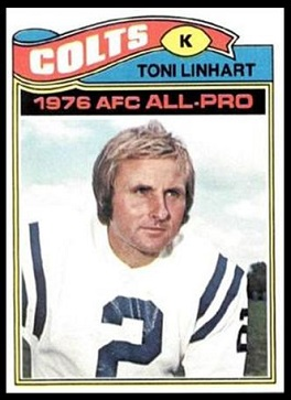 Toni Linhart 1977 Topps football card