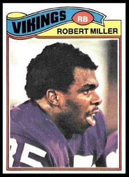 Robert Miller 1977 Topps football card