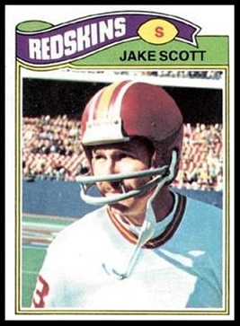 Jake Scott 1977 Topps football card