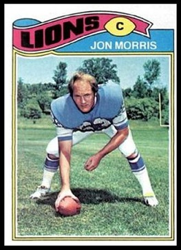 Jon Morris 1977 Topps football card