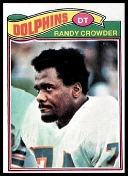 Randy Crowder 1977 Topps football card