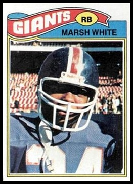 Marsh White 1977 Topps football card