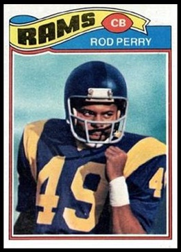 Rod Perry 1977 Topps football card